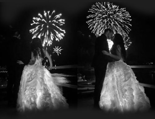 After surviving 9/11, this girl chose to sparkle and shine and light up the world in a dress filled with lights for her 4th of July Wedding!